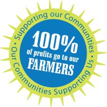 One hundred percent of profits go to our Farmers